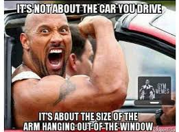 The Rock In Car Meme - which means dwayne the rock johnson drives an awesome car no matter