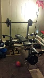 dp fitness body zone weight bench with weights home u0026 garden in