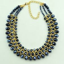 necklace designs with crystals images Mine black crystal jewelry brand designer women collars three jpg