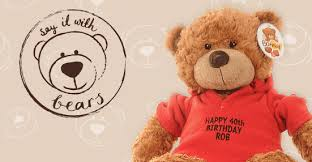 birthday bears delivered personalised teddy bears and soft toys say it with bears