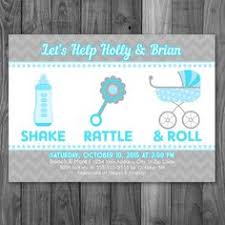 shake rattle and roll baby shower customized baby shower invitation shake rattle and roll chevron