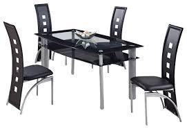 Black Glass Dining Room Sets Global Furniture Usa 1058dt 5 Piece Black Glass Dining Room Set W