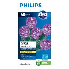 philips 60 sphere lights philips purple led faceted sphere lights 60ct
