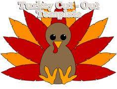 gratitude thankful heart turkey template pinterest
