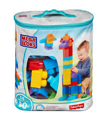 amazon com mega bloks 80 piece big building bag classic toys