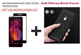 Glass Back by Edge To Edge Colour Tempered Glass Back Cover For Redmi Note 4