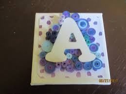 decorated letter a quilled monogram paper quilling quilled