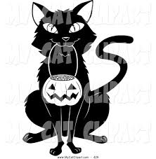 black and white halloween pumpkin clipart cat in a pumpkin clipart collection