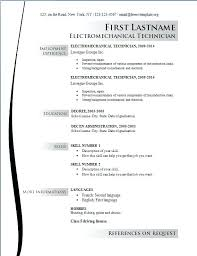 Electrician Resume Example Resume Samples For Electricians Electrician Resume Example Example