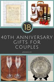 40th anniversary gift ideas 27 great 40th wedding anniversary gift ideas for him