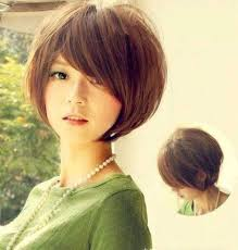 photo korean cute short hair for round shape of face korean short