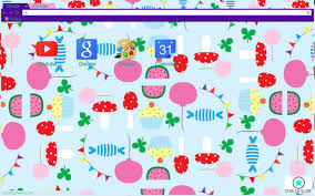 chrome themes cute candy party chrome theme themebeta google chrome themes