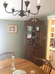 what color to paint inside corner china cabinet