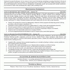 Sample Resume For Bookkeeper Accountant by Assistant Bookkeeper Resume Sample Finance Administrator Cv