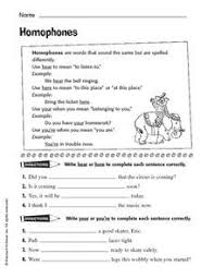 homophones your and you u0027re hear and here 4th 6th grade