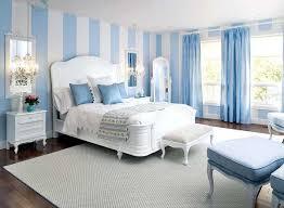 Blue Bedroom Design Striped White Light Blue Master Bedroom Colors Wall