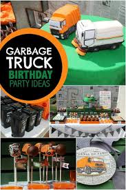 truck birthday party a garbage truck themed boy s 5th birthday party spaceships and
