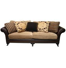 Bernhardt Leather Sofa by Bernhardt Leather And Fabric Sofa Ebth