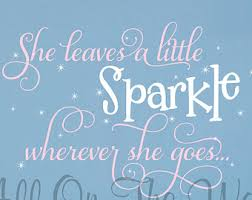 Nursery Sayings Wall Decals Sparkle Saying Wall Decal Wall Saying She Leaves A