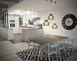 grand tapis cuisine élégant deco salon moderne avec grande horloge de cuisine