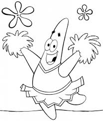 patrick star big laugh coloring page free printable coloring