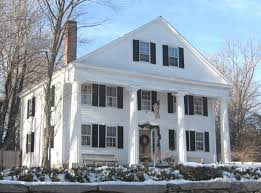 greek revival style house the greek revival in small town new england