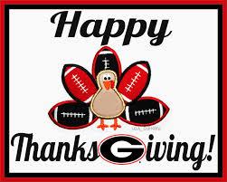 happy thanksgiving football uga bulldogs