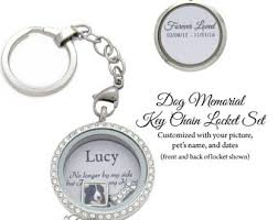 in memory of keychains pet memorial etsy