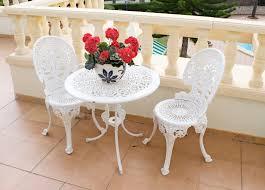 B Q Bistro Chairs Bentley Garden Wooden White Bistro Table Andhairs Sets Ideas