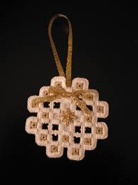 with needle and thread hardanger ornaments