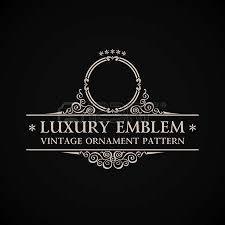 vintage vector logo calligraphic decor element ornament