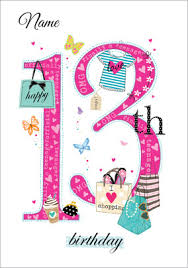 send personalised 13th birthday cards funky pigeon