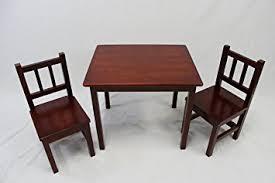 cherry wood kids desk amazon com ehemco kids table and 2 chairs set solid hard wood