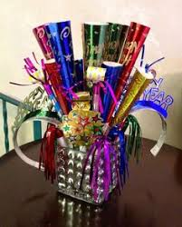 New Year Table Decorations 2015 by Awesome 2015 Colored Feather New Years Party Horns In Container
