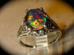 black opal engagement rings opal engagement ring spectacular genuine australian opal ring