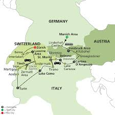 Map Of Germany And Italy by Cosmos Tours Alpine Adventure Bernina U0026 Glacier Express 2016