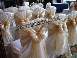 chair tie backs wedding chair cover with golden tie back wedding chair cover