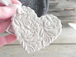 large imprinted wedding baptism favors salt dough