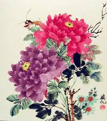 Japanese Flowers Paintings - 156 best silk paintings chinese japanese images on pinterest