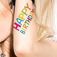 amazon com supperb temporary tattoos happy birthday temporary