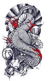 traditional japanese dragon tattoo design by miketooch on deviantart