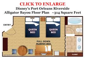 5 room floor plan the murphy bed in the 5 person alligator bayou rooms at port