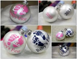 personalized christmas ornaments baby baby s christmas decoration decoration image idea