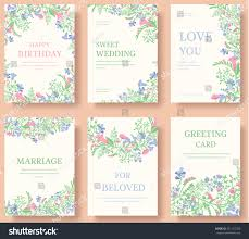 Background Of Invitation Card Set Flower Invitation Cards Invite Wedding Stock Vector 451122760