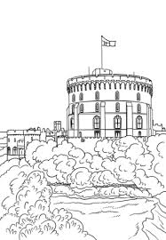 irish castle coloring page windsor castle coloring page free printable coloring pages