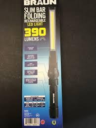 harbor freight light bar braun slim bar rechargeable led work light flashlight magnet base