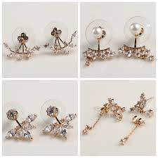 unique stud earrings different types gold plated unique wholesale