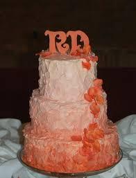 peach ombre wedding cake cakecentral com
