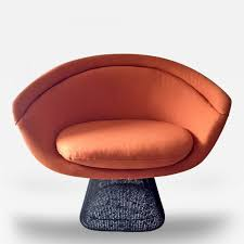warren platner bronze frame lounge chair by warren platner for knoll