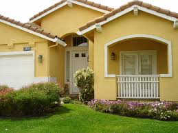 exterior cool yellow exterior paint feats with nice white garage